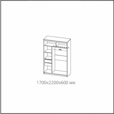 Шкаф-купе № 19 Классик белый (1700)