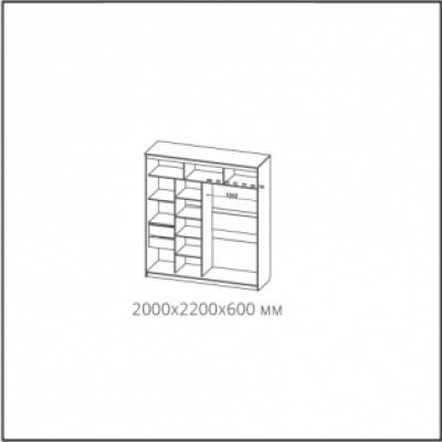 Шкаф-купе № 19 Классик белый (2000)