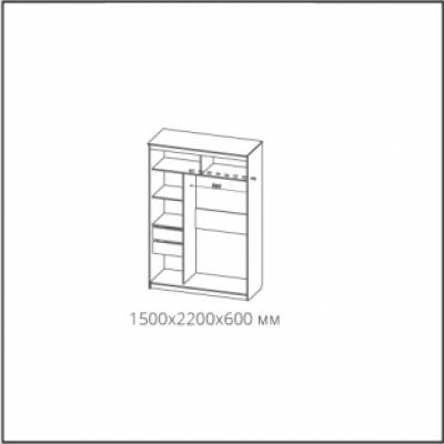 Шкаф-купе № 19 Классик белый (1500)
