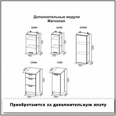 "Кухонный гарнитур ""Магнолия"" венге/анкор"